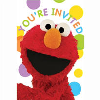 Sesame Street Invitations 8ct