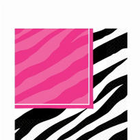 Zebra Party Lunch Napkins 16ct