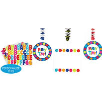 Cabana Polka Dot Personalize It Dangling Decoration Kit 7pc