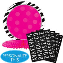 Zebra Party Personalize It Centerpiece Kit