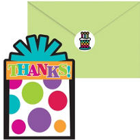 Happy Birthday Thank You Notes 20ct - Rainbow Dot