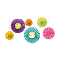Easter Paper Fan Decorations 6ct
