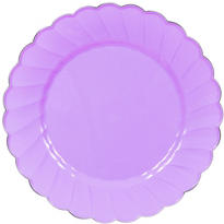 Lilac Scalloped Plastic Dinner Plates 10ct
