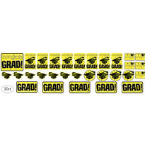 Yellow Graduation Cutouts 30ct