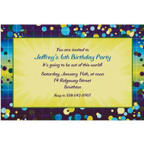 Chromatic Bubbles Custom Invitation