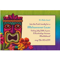 Tropical Tiki Custom Invitation