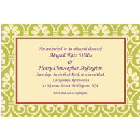 Natural Damask Custom Invitation