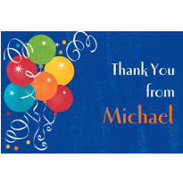 Birthday Fever Custom Thank You Note