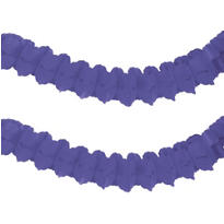 Purple Paper Garland 12ft