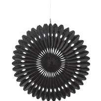 Black Paper Fan Decoration 16in