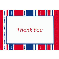 American Summer Stripes Welcome Home Custom Thank You Note
