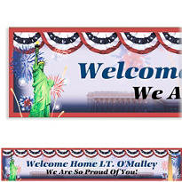 Flying Colors Welcome Home Custom Banner
