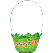 Green Egg Shaped Easter Basket