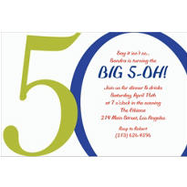 Great Big 50th Custom Invitation