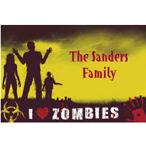 Beware Zombies Halloween Custom Thank You Note