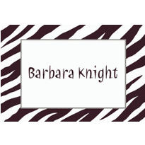 Zebra Custom Thank You Note