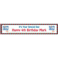 Birthday Boy Text Custom Banner 6ft