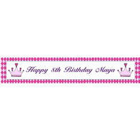 Birthday Princess Crown Custom Banner 6ft