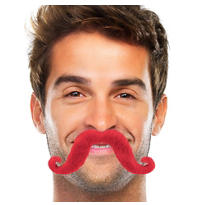 Red Handlebar Moustache