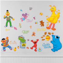 Sesame Street Wall Decals 30pc