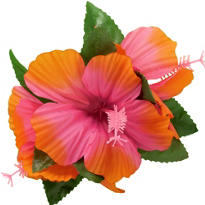 Pink Hibiscus Hair Clip
