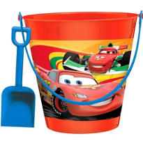 Disney Cars Pail with Shovel 7 1/4in