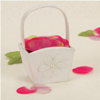 Floral Simplicity Wedding Flower Girl Basket