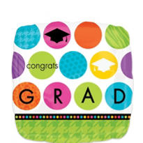 Foil Colorful Commencement Graduation Balloon 18in