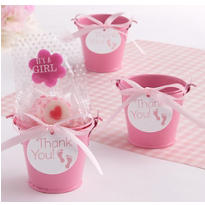 Pink Baby Feet Pail Favor Kit 18ct