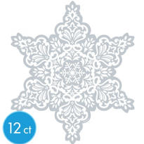 Small Snowflake Cutout 8in 12ct