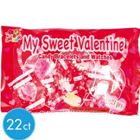 My Sweet Valentine Candy Bracelets & Watches 22ct<span class=messagesale><br><b>13¢ per piece!</b></br></span>