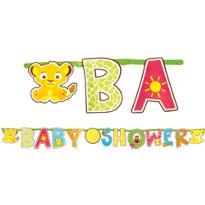 Customizable Lion King Baby Shower Letter Banner 9ft