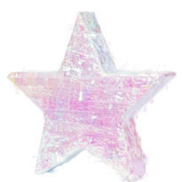 Iridescent Foil Star Pinata 18in