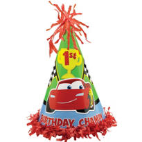 Cars 1st Birthday Party Hat