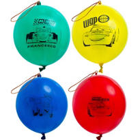 Latex Cars Punch Balloons 4ct
