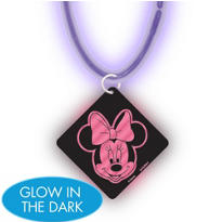 Minnie Mouse Necklace with Glow Pendant
