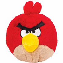 Red Angry Birds Plush Toy 5in