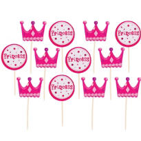 Princess Cupcake Picks 12ct