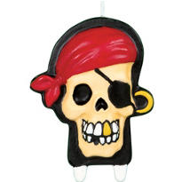 Pirate Candle 3 1/2in