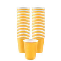Sunshine Yellow Paper Coffee Cups 40ct