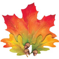 Festive Fall Leaves Cutout 15in