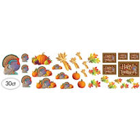 Happy Thanksgiving Cutouts Mega Value Pack 30ct