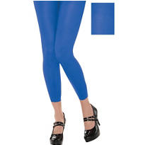 Footless Blue Tights