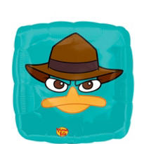 Foil Perry the Platypus Balloon - Phineas and Ferb 18in