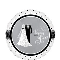Foil Black and White I Do Wedding Balloon 18in