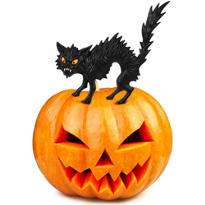 Black Cat Pumpkin Topper