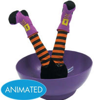 Animated Witch Candy Bowl 10in