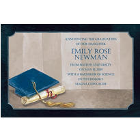 Custom Framed Cap and Diploma Graduation Announcements