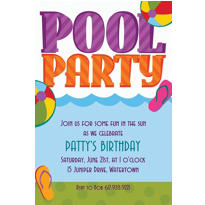Pool Party! Custom Invitation