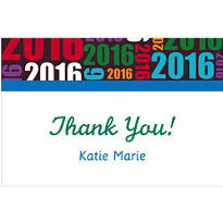 Custom Grad Year Thank You Notes